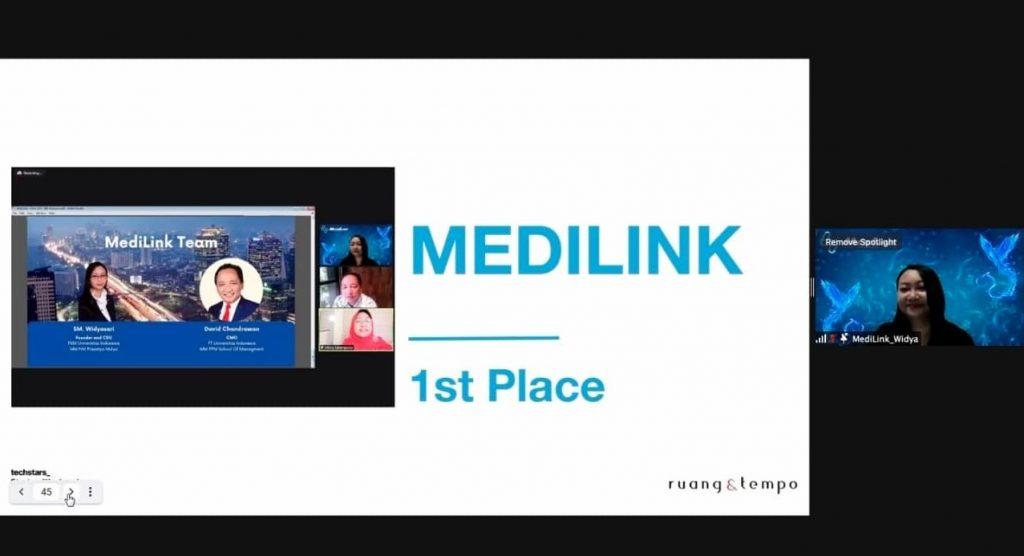 MediLink, startup gagasan Widya memperoleh Juara 1 dalam Kompetisi Startup Indonesia